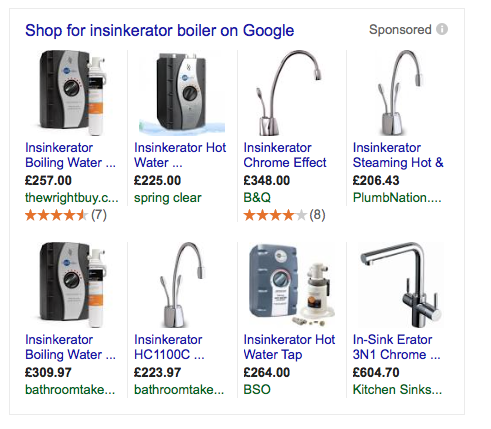 google shopping products seo