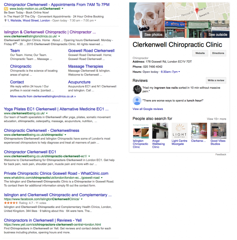 multiple first page google results